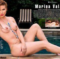 Marina Valmont nua na Playboy Checa