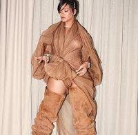 O vestido transparente de Rihanna