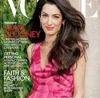 Amal Clooney na capa da Vogue, fala sobre ter-se apaixonado por George e ter bebés