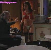 Carolina Carvalho sensual de lingerie (novela Vidas Opostas)