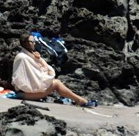 Keira Knightley apanhada em topless