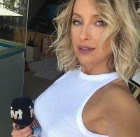 Marisa Cruz com frio em reportagem exterior