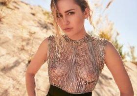 Miley Cyrus topless na Vanity Fair de Março 2019