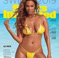 Tyra Banks na capa da Sports Illustrated aos 45 anos