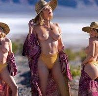Sara Underwood topless em ensaio