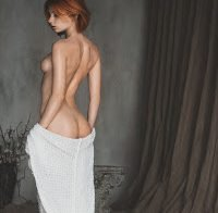 Marta Gromova nua em ensaio artístico