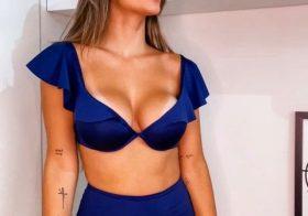 Ingrid Pgon arraa em biquíni sensual