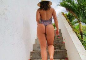 Rafaella Kalimann exibe o rabo em video quase pornográfico