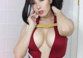 Danielle Vedovelli e o cosplay super sensual